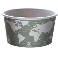 Picture of 12oz Soup Container World Art Design Compostable (109937)