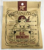 Picture of Righteous Felon OGHickory Jerky 1oz (1ozOG-16)